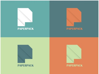 PaperPack Logo Design - 30 Days Challenge Logocore minimal paperpack paper icon logocore logo branding ux dailyui illustration webdesign design ui