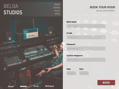 SignUp Page - Music Studio