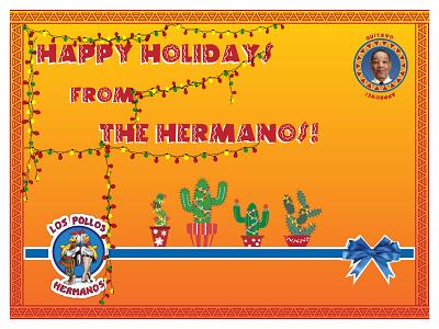 Holiday Card - Hermanos challenge card webdesign ui ux logo branding holiday card holiday weekly challenge weeklywarmup warmup illustration