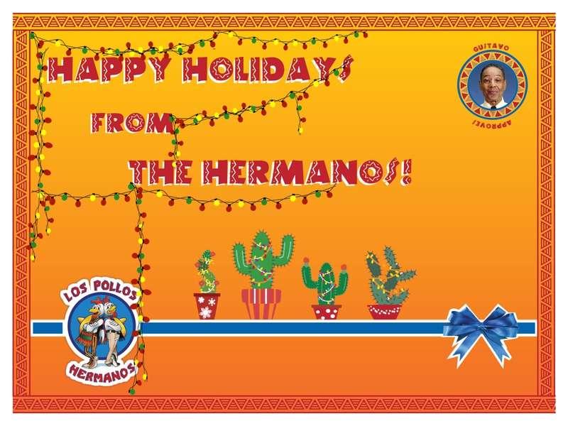 Holiday Card - Hermanos challenge card webdesign ui ux logo branding holiday card holiday weekly challenge weeklywarmup warmup illustration