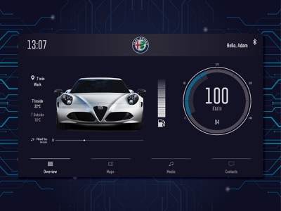 Car Interface daily alfaromeo interface car dailywarmup webdesign design logo ux ui branding daily 100 challenge dailyui