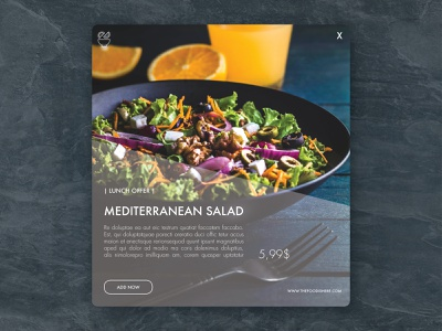 Special Offer - Lunch Salad specialoffer lunchdesignco dailywarmup food offer lunchoffer challenge ux ui branding illustration webdesign daily 100 challenge dailyui