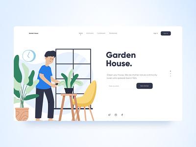 Garden House. web appdesign vector landingpage website app layout design ux ui