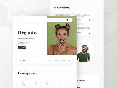 Organic. mobile landing page design landingpage web website app layout design ux ui