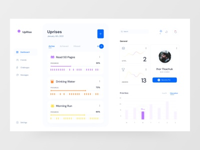 Challenge Dashboard product productdesign minimal appdesign dashboard dashboard ui dashboard app web ux app layout ui design