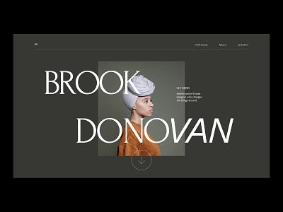 Brook Donovan website. graphic type grid website web ui design website header modern simple minimalist minimal layout typogaphy visuals visual art webdesign visualdesign