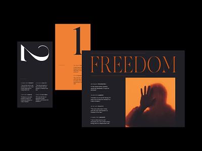 Freedom — Layout web header graphic clean art direction grid photogrpahy branding website minimal layout design