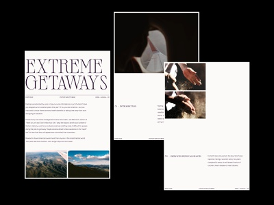 Extreme Getaways — Layout product simple graphic design art branding web clean grid photography art direction website typograhpy web design webdesign ux ui minimal layout design