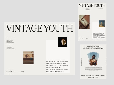 Vintage Youth — Inner & Layouts | White color whitespace designart photography simple product ux art direction grid branding clean minimal ui web layout design