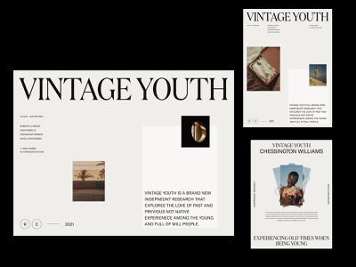 Vintage Youth — Inner & Layouts | Black typography photography design art modern simple art direction design web ux ui branding grid product clean layout minimal whitespace color