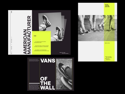 Vans Digital — Layouts & Composition Study art direction simple website typogaphy photography design art modern design web minimal ui ux clean layout grids branding whitespace blackandwhite product
