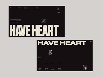 Have Heart — Website Headers. branding modern webdesign whitespace photograhy typogaphy design art photography simple product grid website clean ux minimal ui web layout design