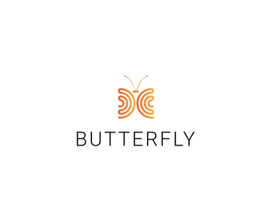 buttrtfly and c letter logo