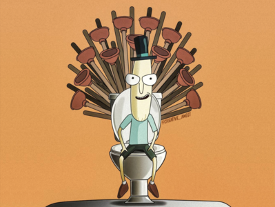 The Porcelain Throne game of thrones rick and morty dribbbleweeklywarmup vector warmup illustration adobe illustrator
