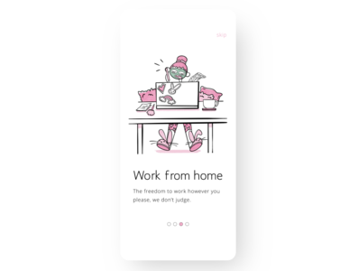 Product illustration challenge: 09 WFH working from home remote work wfh procreate product design ui product illustration vector design warmup illustration adobe illustrator