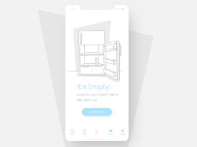 Product illustration challenge: 11A No items empty fridge empty state no results no items product design ui product illustration vector design warmup illustration adobe illustrator
