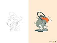 K rubber hose 1930s paint bucket sketch vector product illustration design warmup illustration adobe illustrator