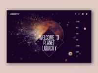 Header Design Concept - Dark and Light Version landing design webdesign web design uiux moon space music sound header exploration header illustration header design header website design website web ui user experience interface