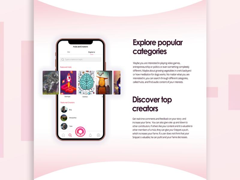 360° Creative Concept for Voicehub voice app music app application rebranding branding logo design app design app website design website webdesign uiux web user experience ui interface