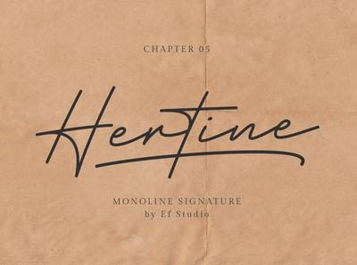 Hertine - Monoline Signature Font