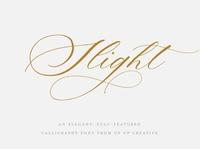 Slight Calligraphy Script Font