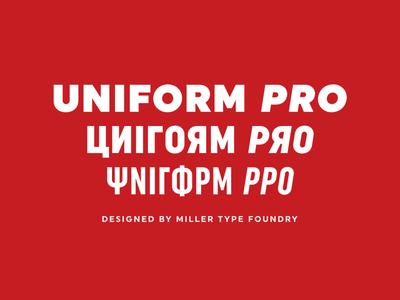 Uniform Pro Font Family
