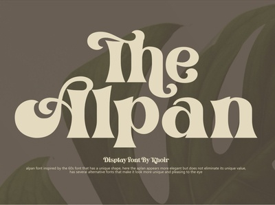 The Alpan Display Font
