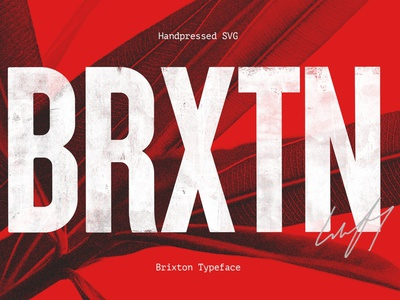 Brixton SVG - Handprinted Typefamily branding graphic design typography font family display font logo font sans serif font sans serif font design vintage typeface vintage font lettering svg typeface svg fonts svg font svg typefaces typeface fonts font