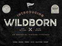 Wildborn Vintage Sans Serif Font