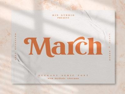 March - Elegant Serif Font