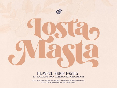 Losta Masta - Playful Serif Font Family