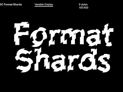 OC Format Shards Font graphics display font download fonts download unique typography typeface design logo font branding font design experimental typography modern design modern typography lettering graphic design design typography typefaces typeface fonts font