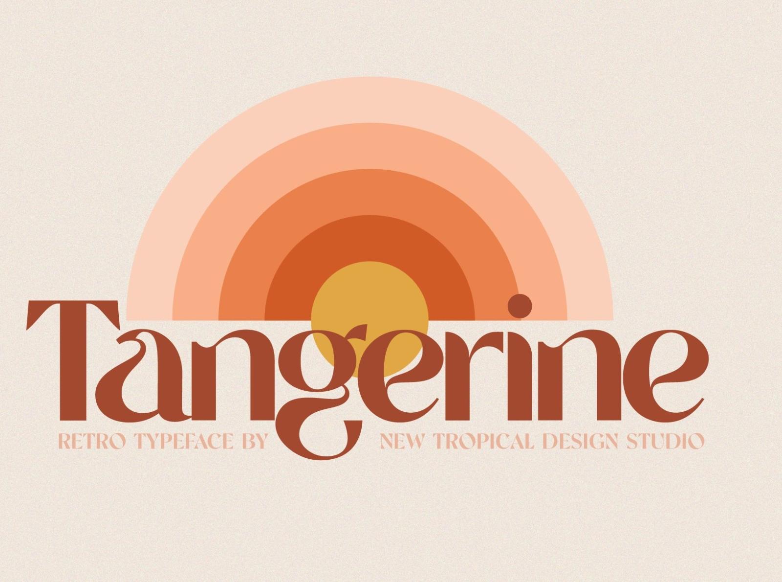 Tangerine Vintage Font By Best Fonts On Dribbble