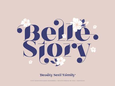 Belle Story - Beauty Serif Font Family logo fonts display font retro font download font vintage lettering lettering modern font classic font elegant font font design typefaces typeface typography logo font graphics vintage font serif font font family fonts font