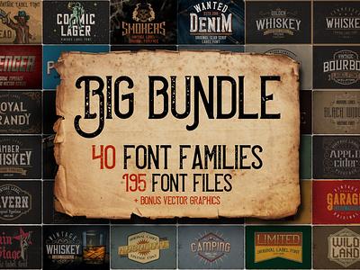 Vintage Fonts Bundle logo fonts fonts bundle download fonts best fonts vintage typography display fonts retro font vintage font graphic design design lettering typography font design typefaces typeface retro fonts vintage fonts vintage fonts font