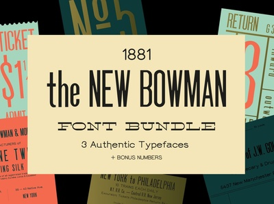 New Bowman Font Bundle (+ webfonts)