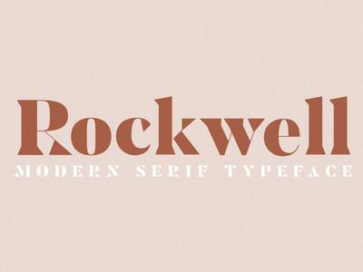 ROCKWELL- Serif Font