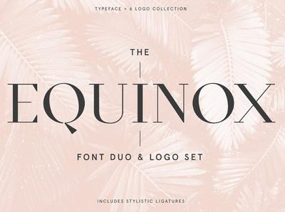 Equinox Stylish Font duo & logo set