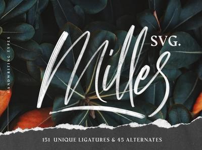 Milles Svg - Unique Handwriting Font