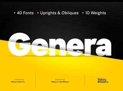 Genera - Sans Serif Font Family