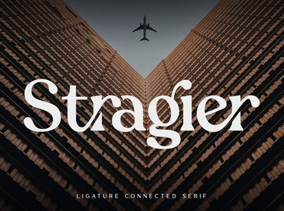 Stragier - Ligature Connected Serif Font