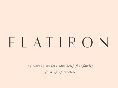 Flatiron Sans Font Family