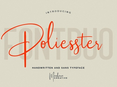 Poliesster - Font Duo (Script & Sans)