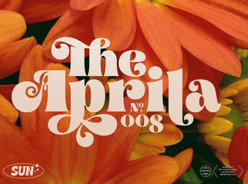 Aprila Font Family flower power branding logo font display font serif font typography graphic design design retro 1970s 70s hippie vintage reto font vintage fonts typefaces typeface vintage font fonts font