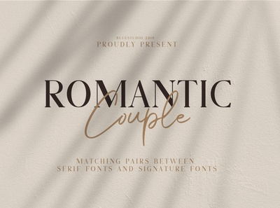 Romantic Couple - Font Duo