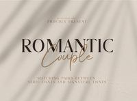 Romantic Couple - Font Duo