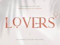 Lovers SVG Serif Font & Extras