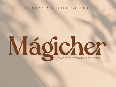 Magicher - Ligature Connected Serif Font