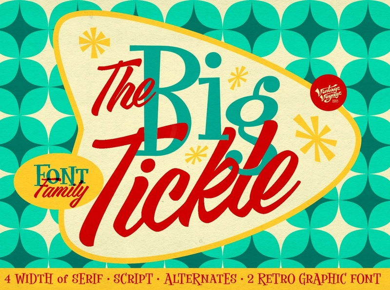 The Big Tickle - Font Family + Extras