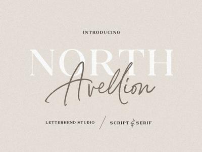 North Avellion - Script & Serif Font Duo